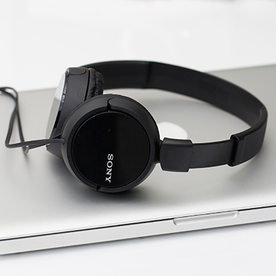 SONY<sup>&reg;</sup> ZX Series Stereo Headphones - Built for comfort and performance, these lightweight headphones have an on-ear design to maximize your audio experience. Features include 30mm drivers for rich, full frequency response and a tangle-free, Y-type cord.